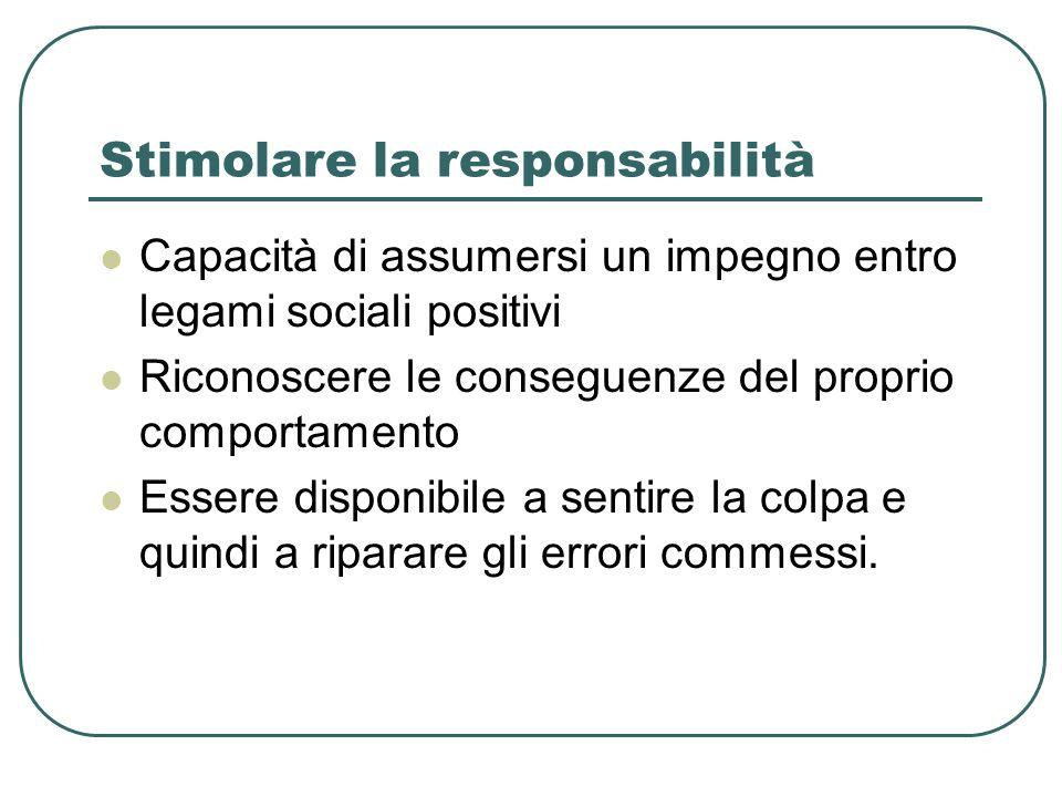 Stimolare la responsabilità