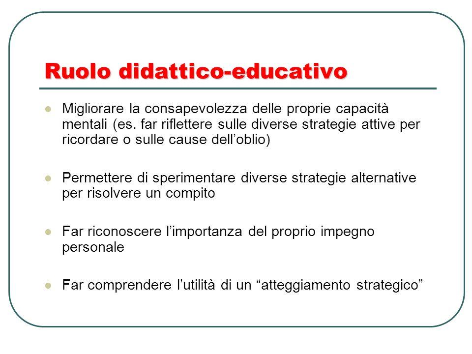Ruolo didattico-educativo