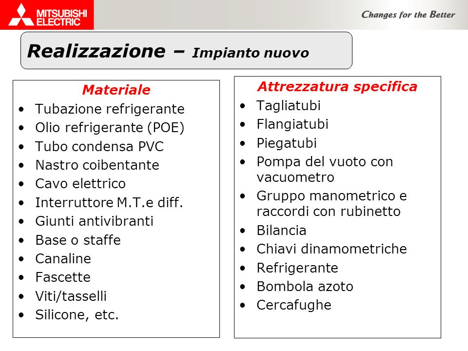 Attrezzatura specifica