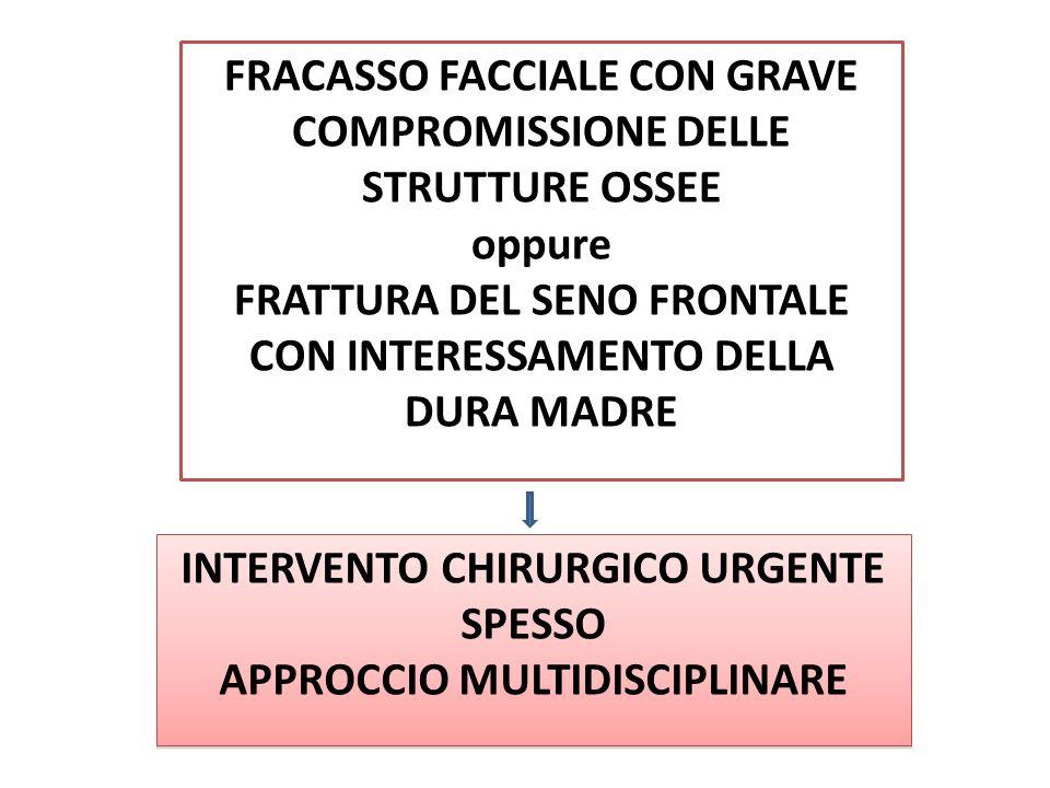 FRACASSO FACCIALE CON GRAVE COMPROMISSIONE DELLE STRUTTURE OSSEE