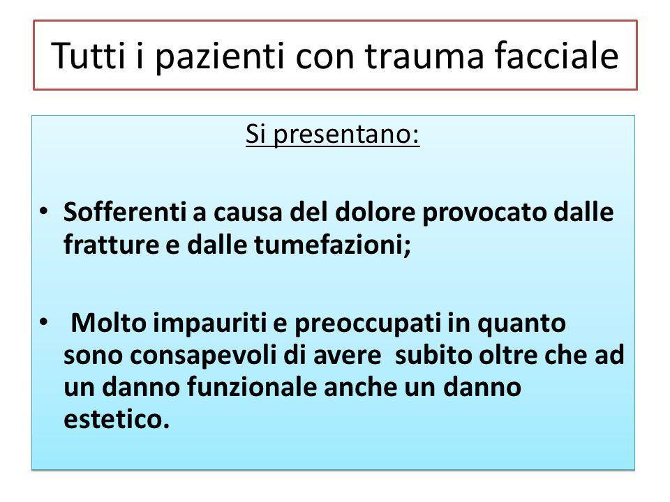Tutti i pazienti con trauma facciale