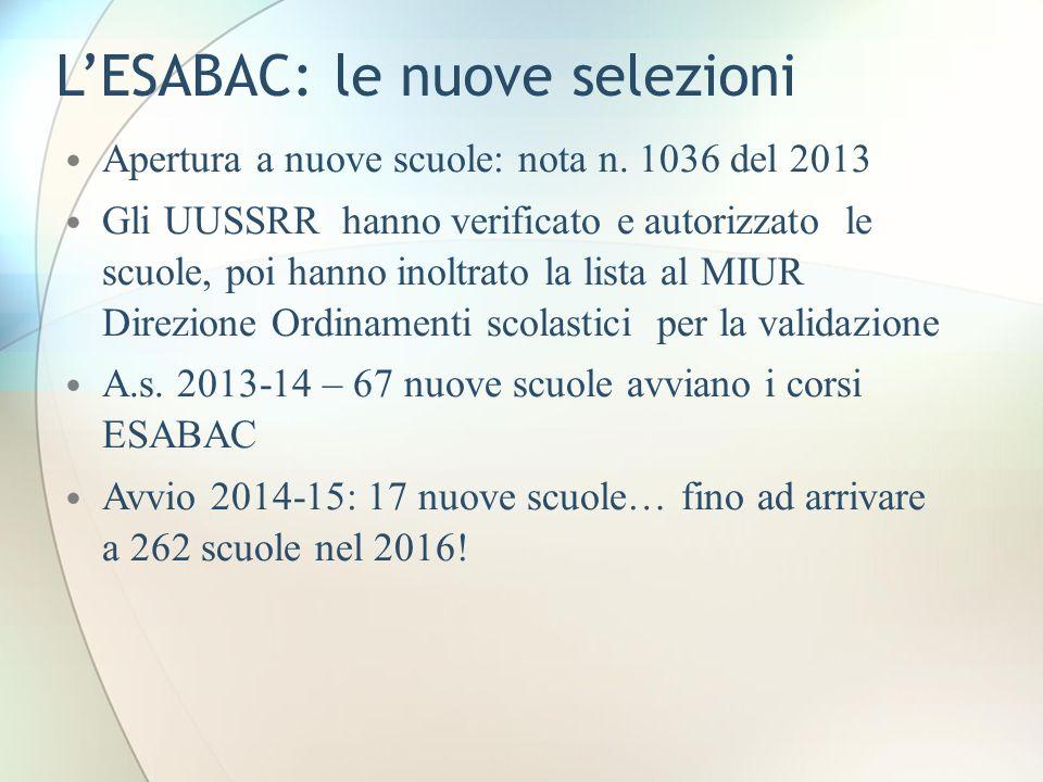 L'ESABAC: le nuove selezioni