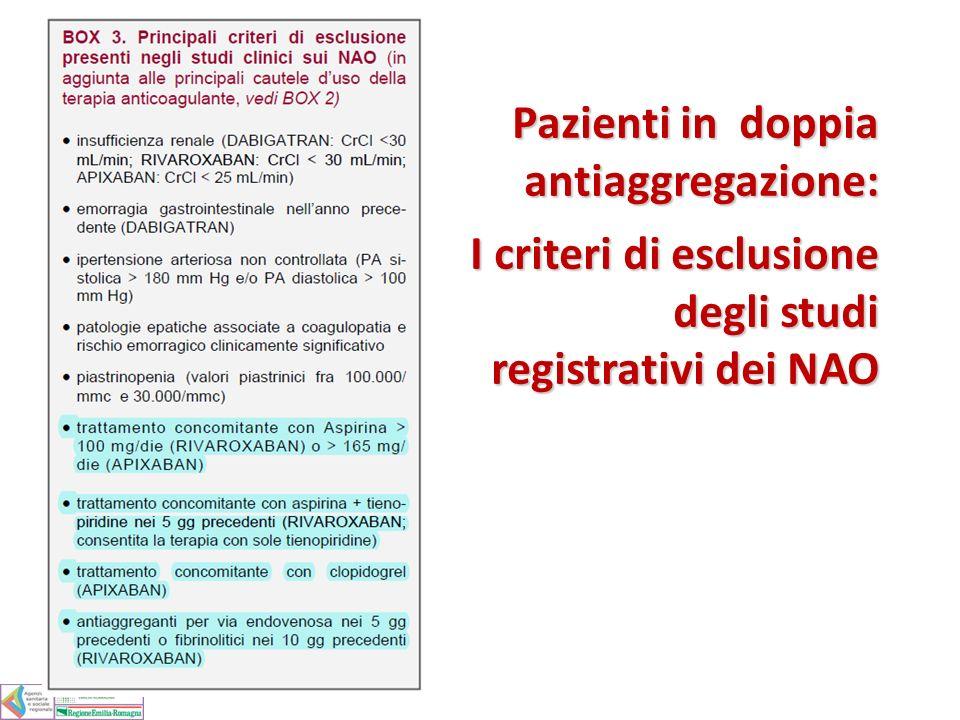 Pazienti in doppia antiaggregazione: