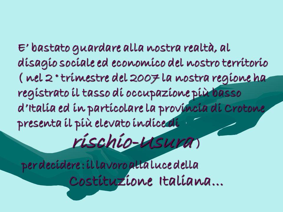 rischio-Usura Costituzione Italiana…