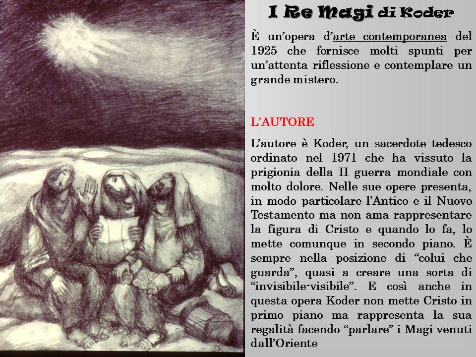I Re Magi di Koder È un'opera d'arte contemporanea del 1925 che fornisce molti spunti per un'attenta riflessione e contemplare un grande mistero.