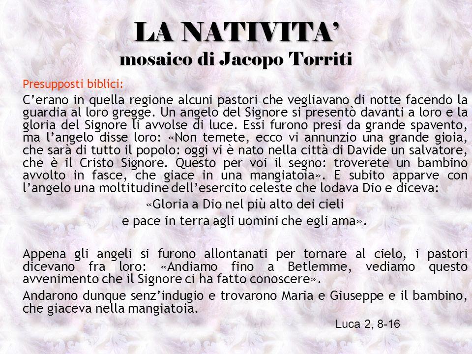 LA NATIVITA' mosaico di Jacopo Torriti