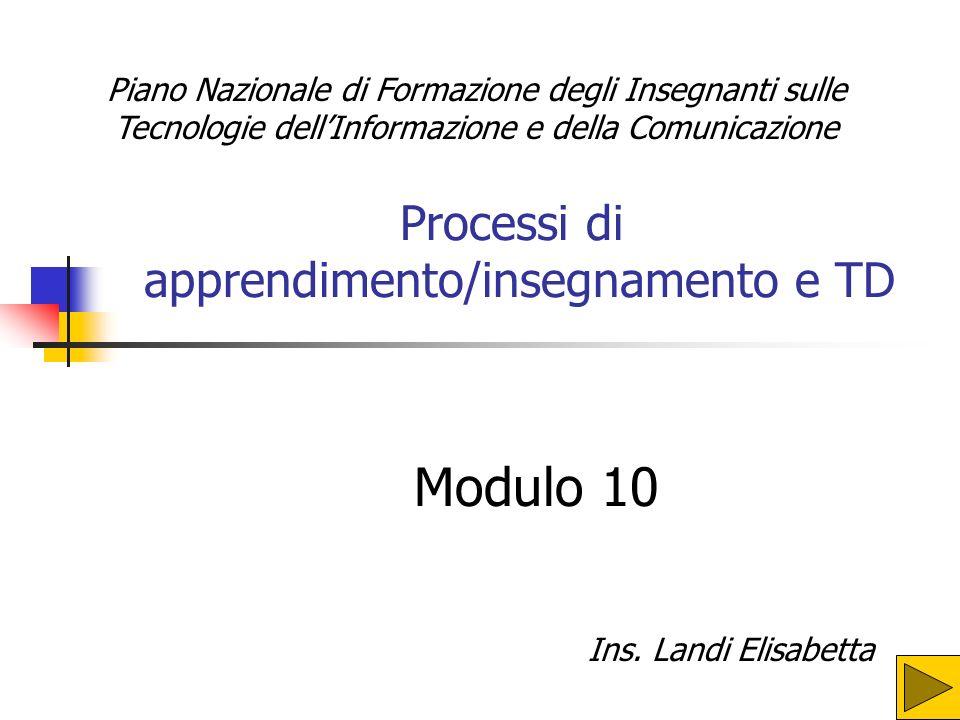 Processi di apprendimento/insegnamento e TD