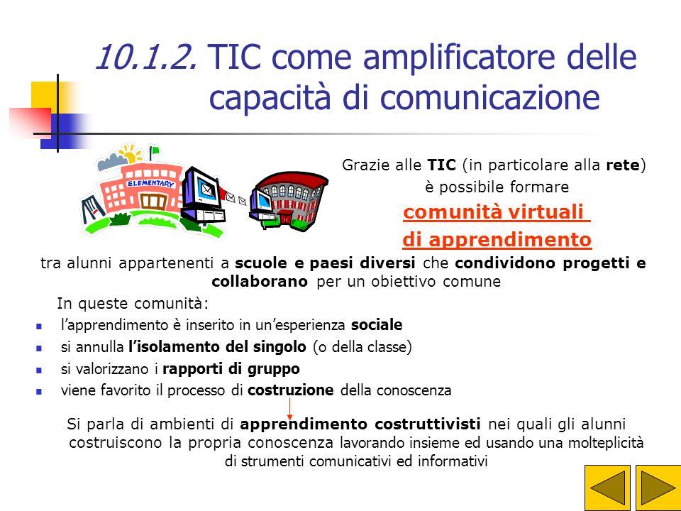 Grazie alle TIC (in particolare alla rete)