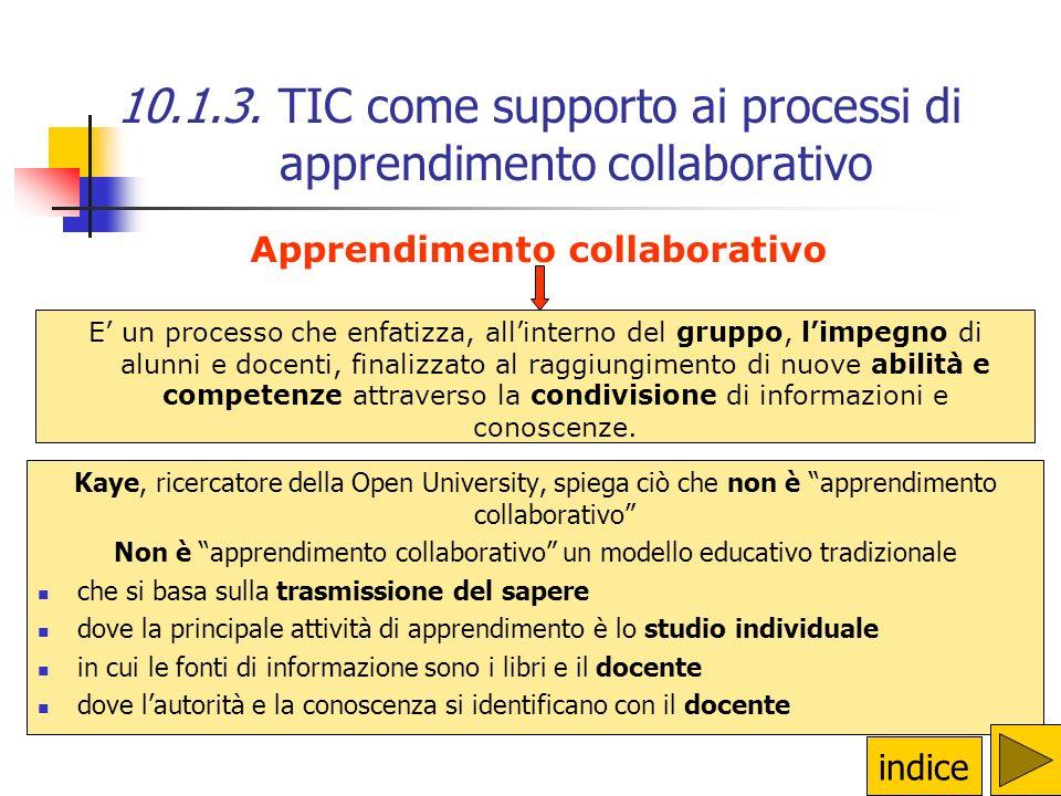 10.1.3. TIC come supporto ai processi di apprendimento collaborativo