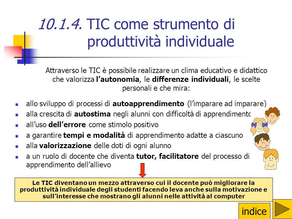 10.1.4. TIC come strumento di produttività individuale