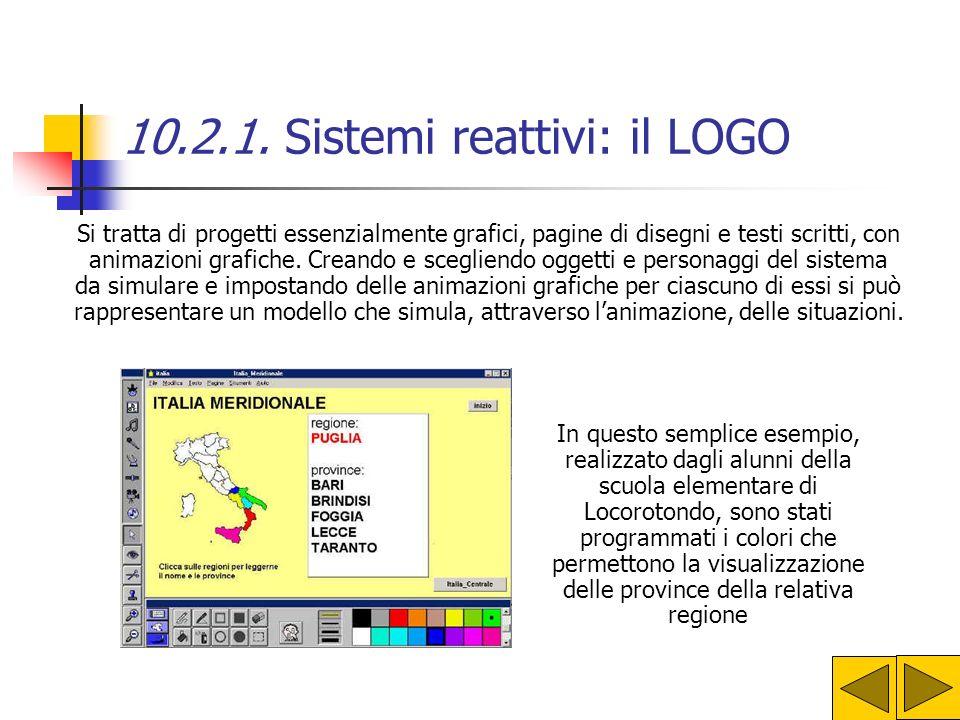 10.2.1. Sistemi reattivi: il LOGO