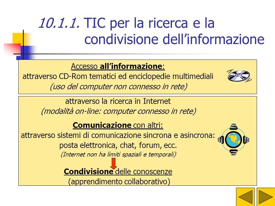 10.1.1. TIC per la ricerca e la condivisione dell'informazione