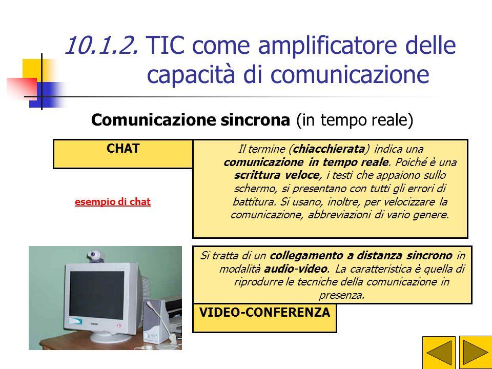 Comunicazione sincrona (in tempo reale)
