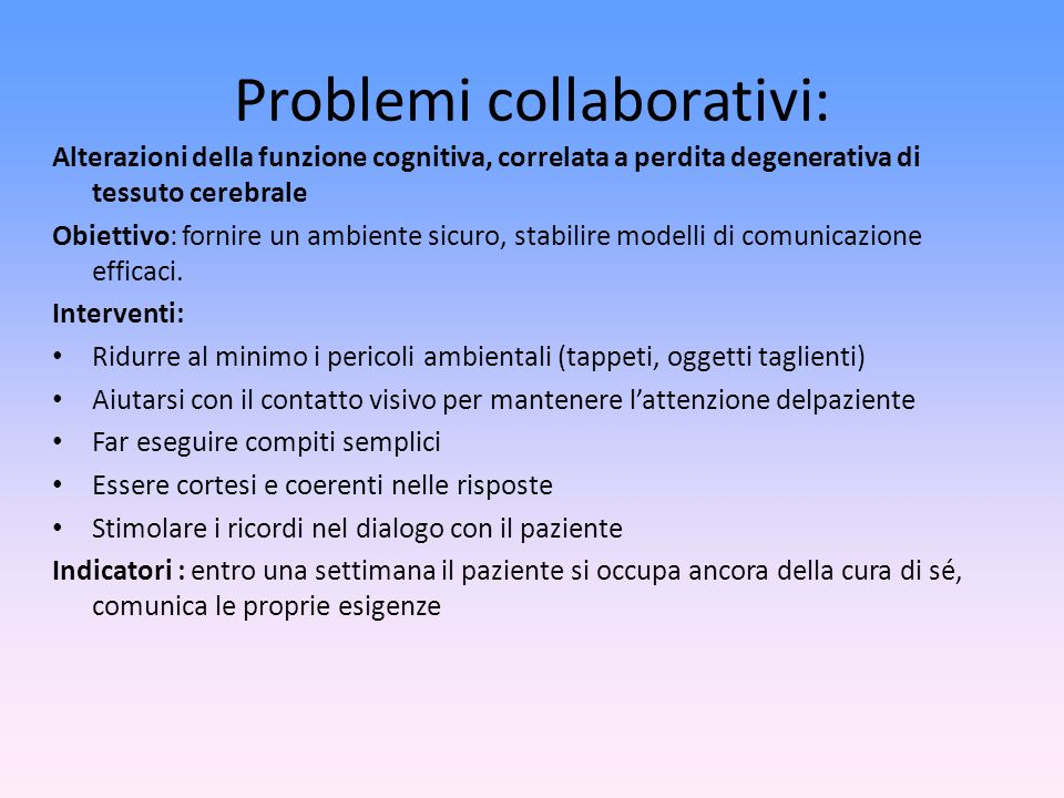 Problemi collaborativi: