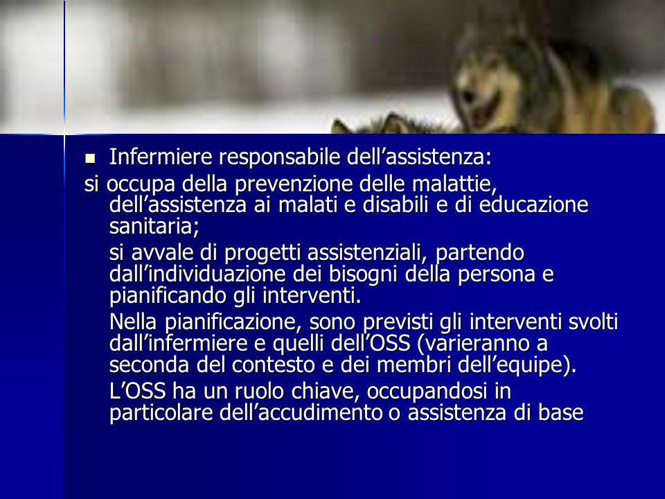 Infermiere responsabile dell'assistenza: