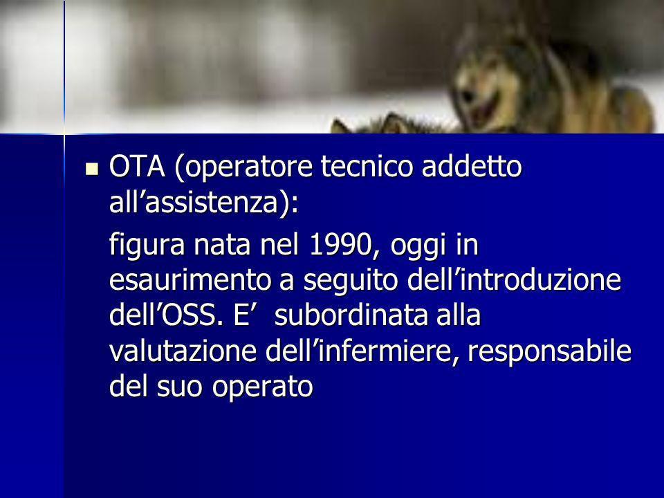 OTA (operatore tecnico addetto all'assistenza):