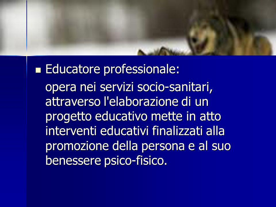 Educatore professionale: