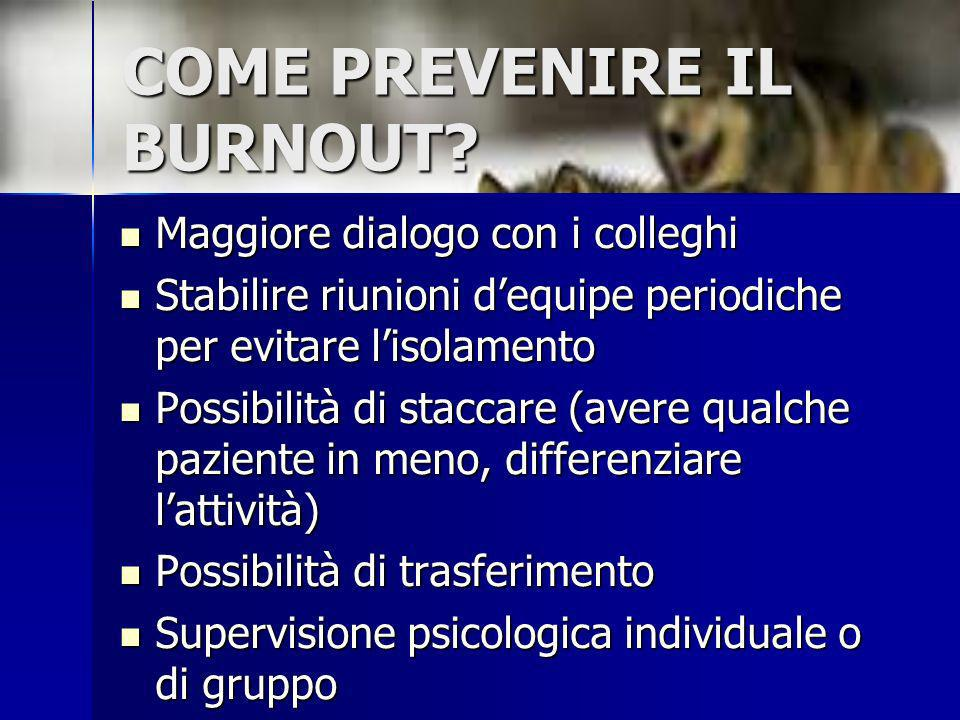 COME PREVENIRE IL BURNOUT