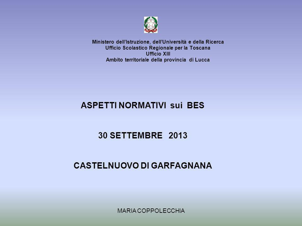 ASPETTI NORMATIVI sui BES CASTELNUOVO DI GARFAGNANA