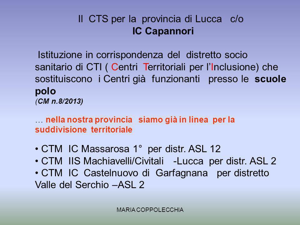 Il CTS per la provincia di Lucca c/o