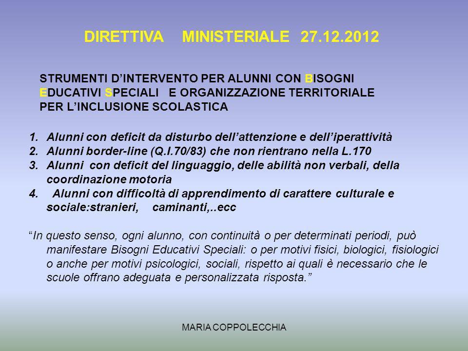 DIRETTIVA MINISTERIALE 27.12.2012