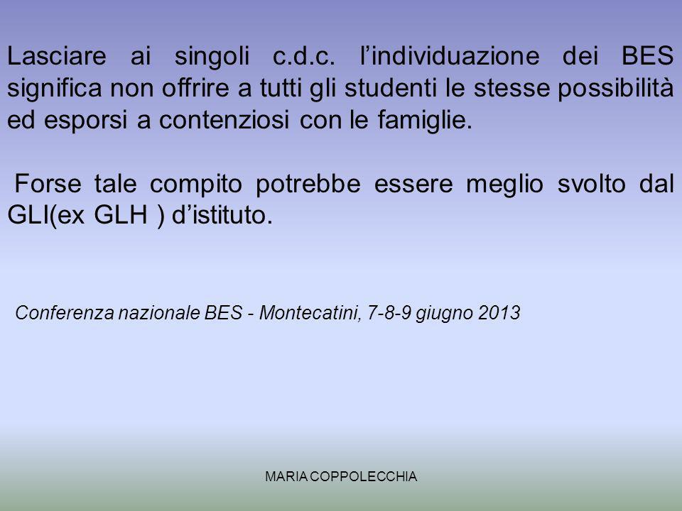 Conferenza nazionale BES - Montecatini, 7-8-9 giugno 2013