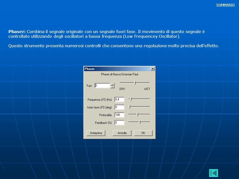Phaser: Combina il segnale originale con un segnale fuori fase