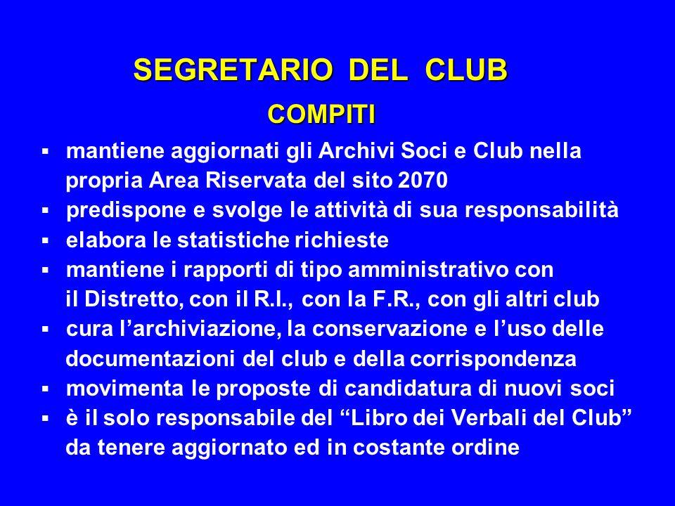 SEGRETARIO DEL CLUB COMPITI
