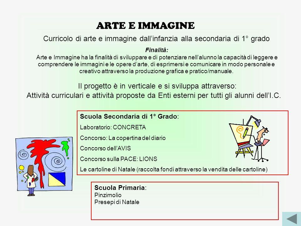 ARTE E IMMAGINE Curricolo di arte e immagine dall'infanzia alla secondaria di 1° grado. Finalità: