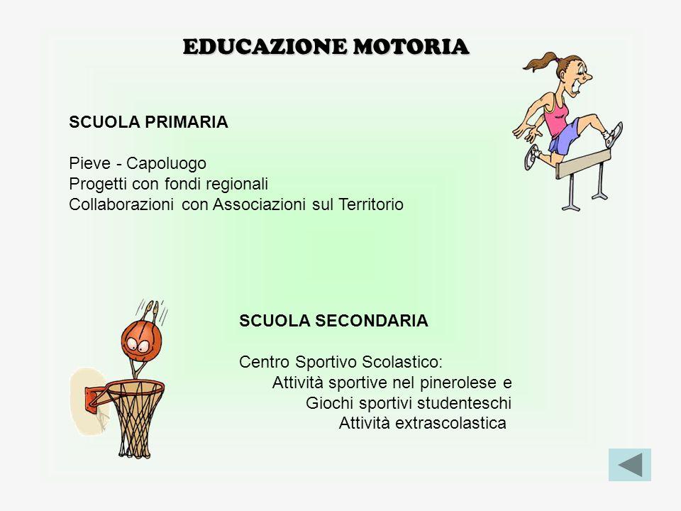 EDUCAZIONE MOTORIA SCUOLA PRIMARIA Pieve - Capoluogo