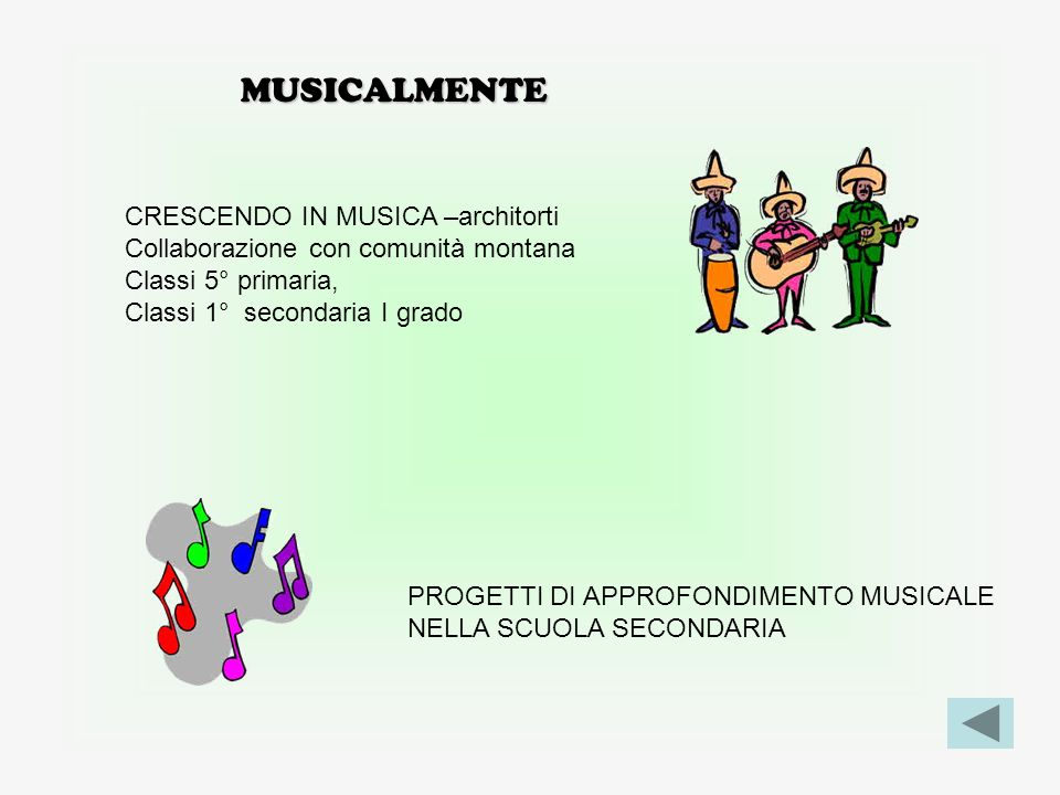 MUSICALMENTE CRESCENDO IN MUSICA –architorti