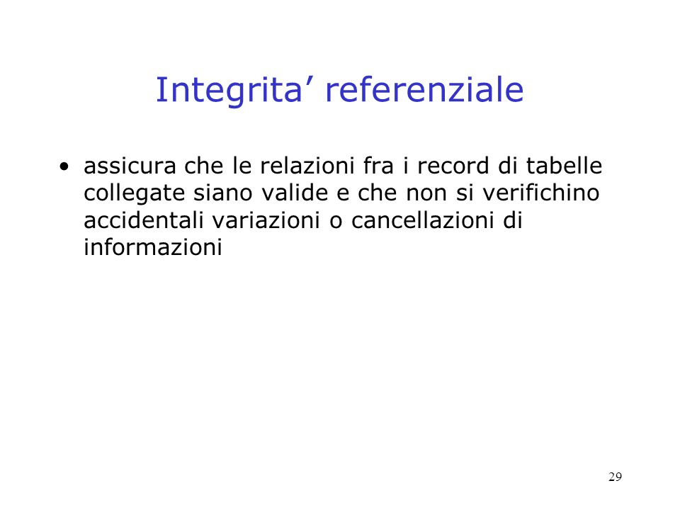 Integrita' referenziale