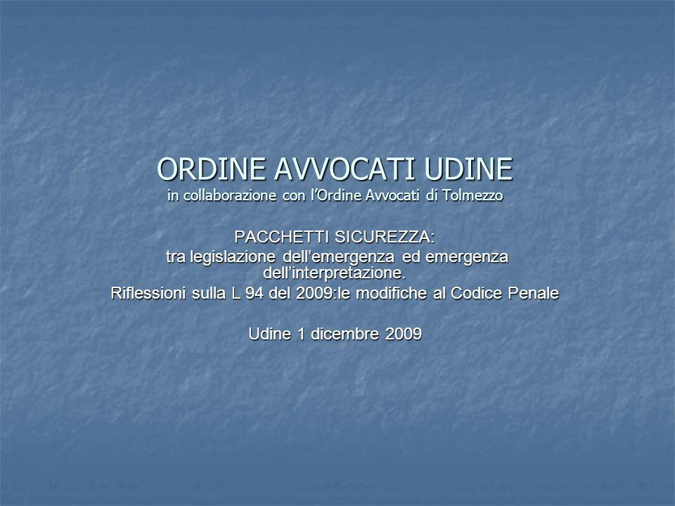 ORDINE AVVOCATI UDINE in collaborazione con l'Ordine Avvocati di Tolmezzo