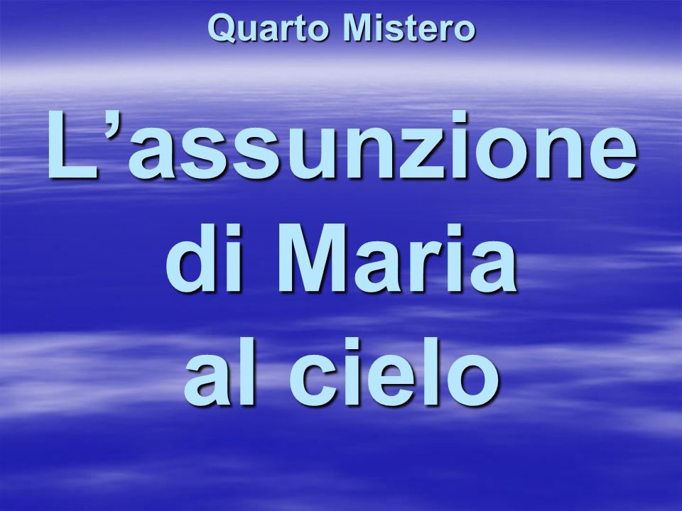 L'assunzione di Maria al cielo
