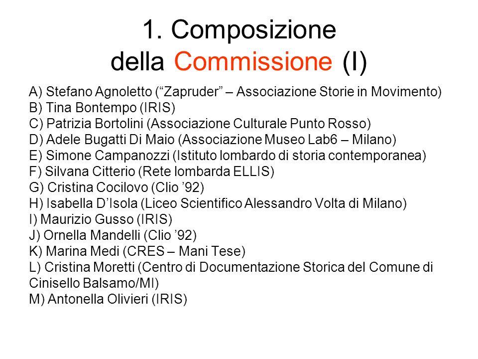 1. Composizione della Commissione (I)