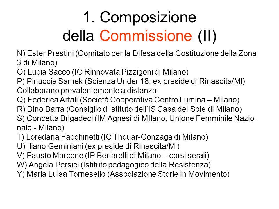 1. Composizione della Commissione (II)