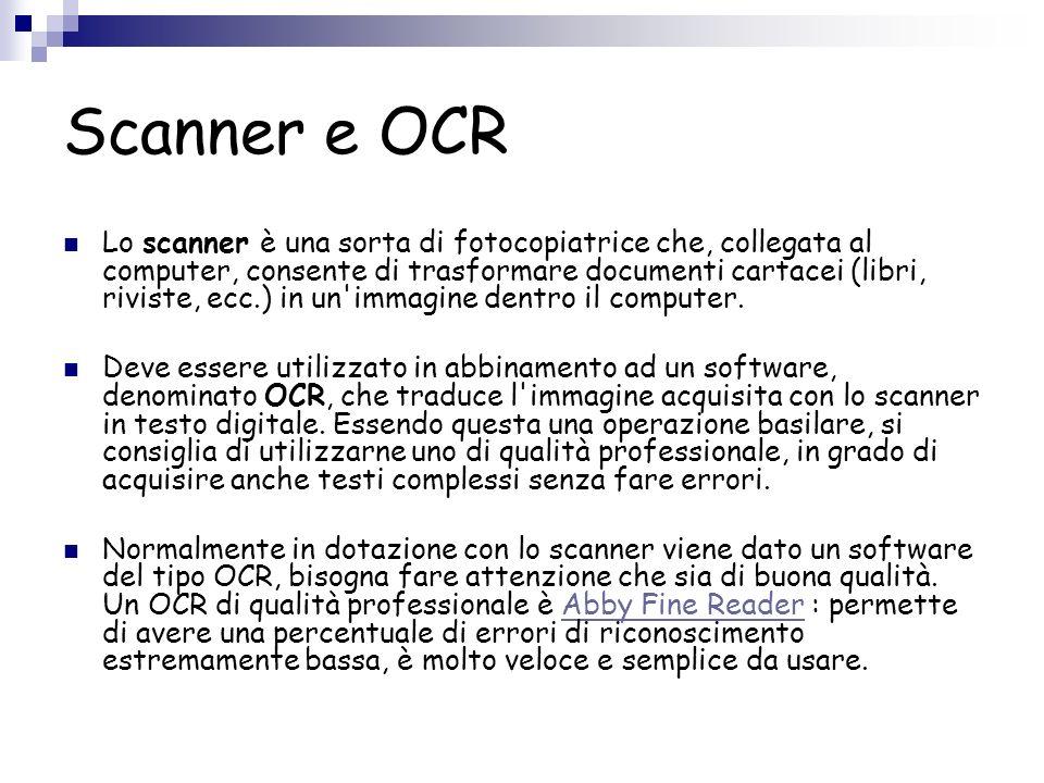 Scanner e OCR