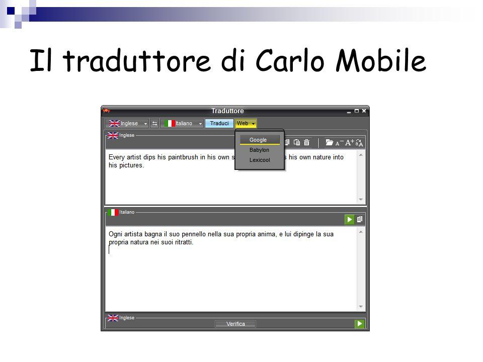 Il traduttore di Carlo Mobile