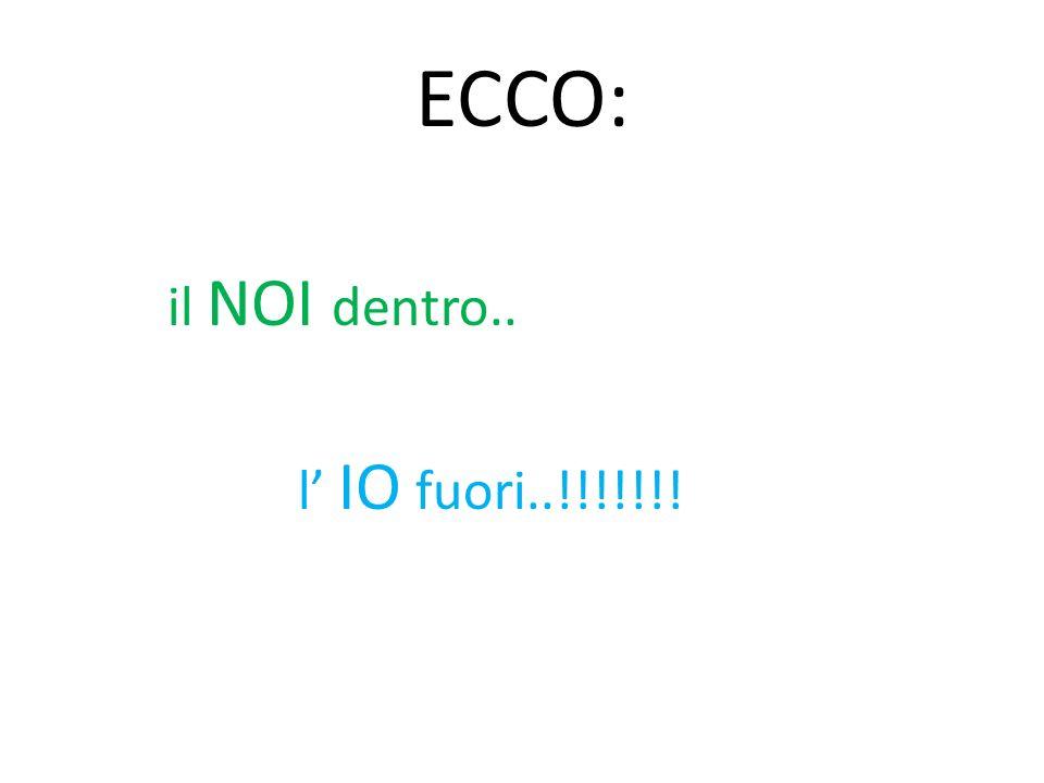 ECCO: il NOI dentro.. l' IO fuori..!!!!!!!
