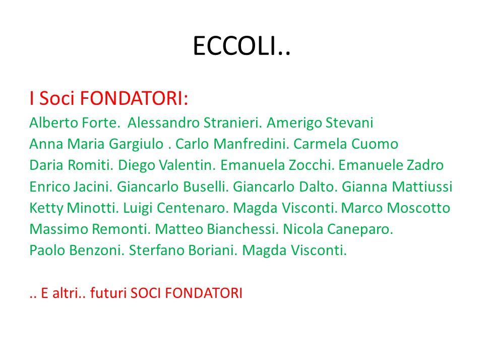 ECCOLI.. I Soci FONDATORI: