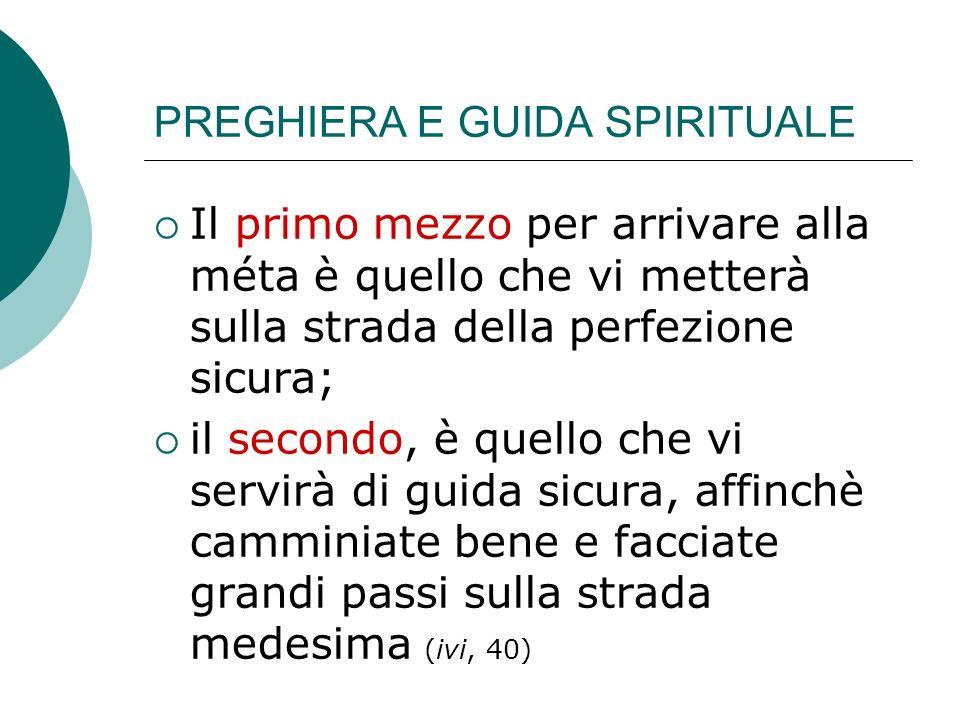 PREGHIERA E GUIDA SPIRITUALE