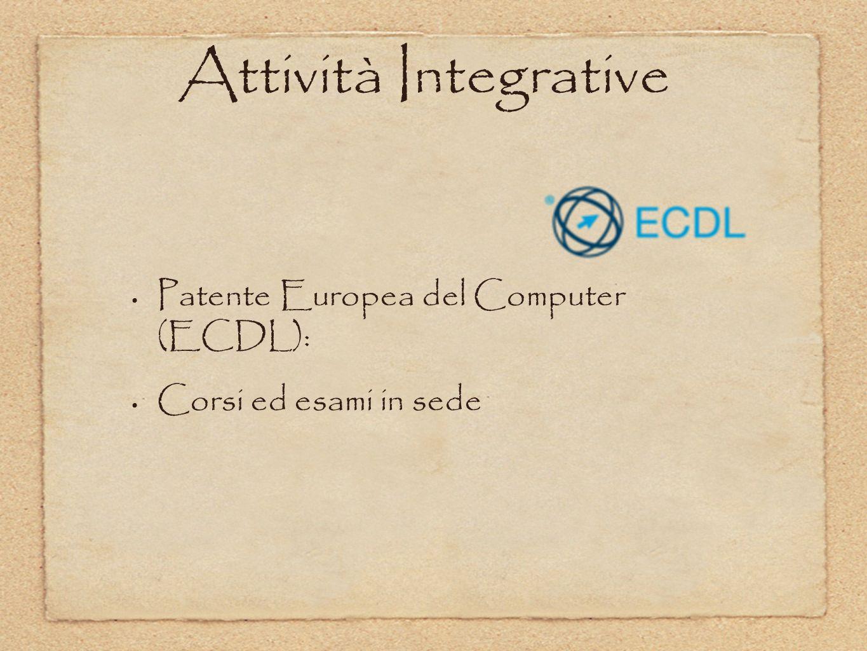 Patente Europea del Computer (ECDL): Corsi ed esami in sede