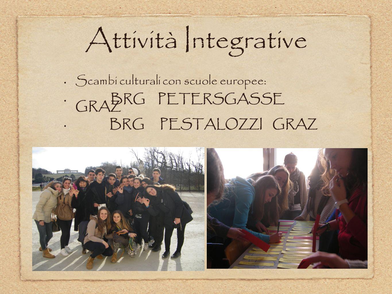 Attività Integrative Scambi culturali con scuole europee: