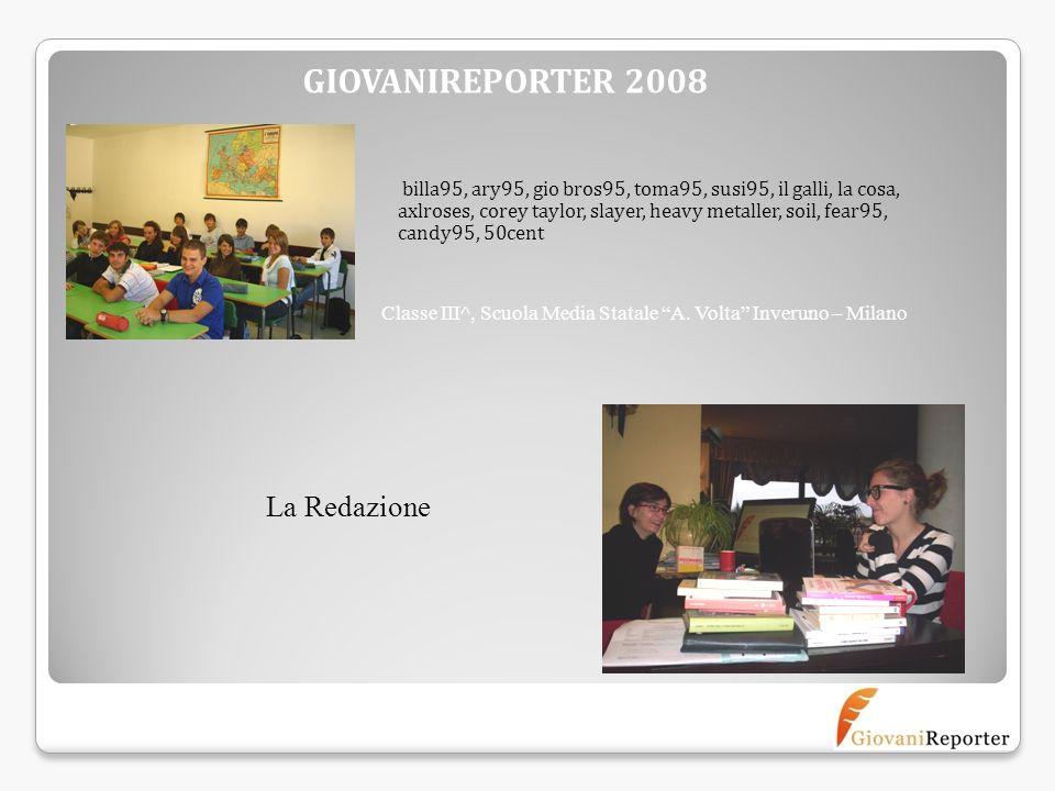 GIOVANIREPORTER 2008 La Redazione