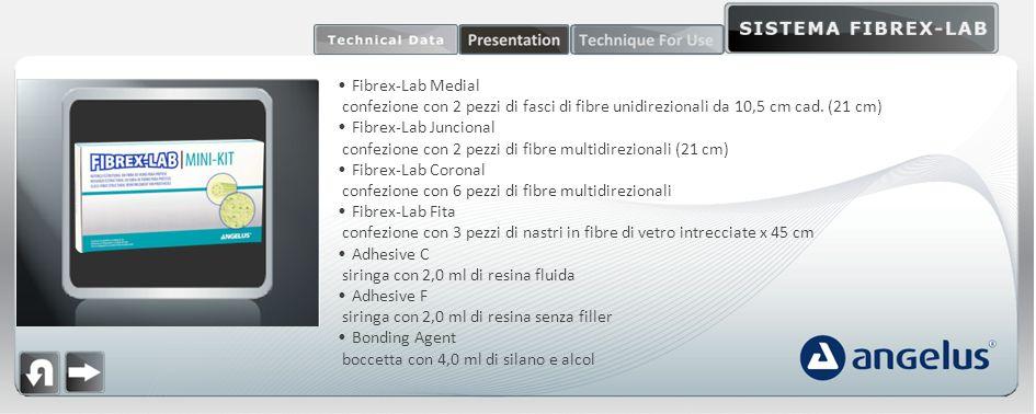 Fibrex-Lab Medial confezione con 2 pezzi di fasci di fibre unidirezionali da 10,5 cm cad. (21 cm) Fibrex-Lab Juncional.