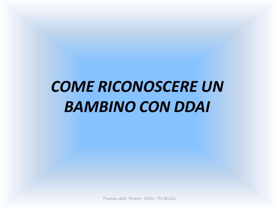 COME RICONOSCERE UN BAMBINO CON DDAI