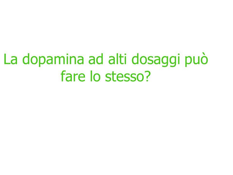 La dopamina ad alti dosaggi può fare lo stesso