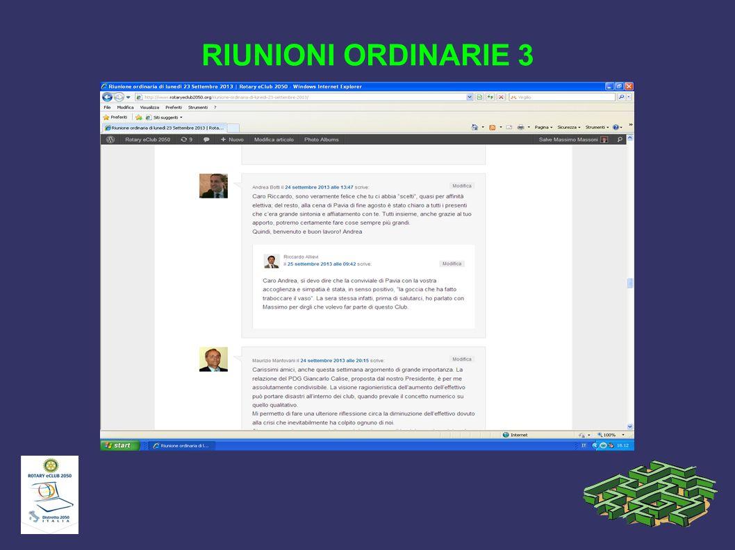 RIUNIONI ORDINARIE 3