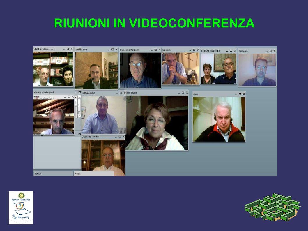 RIUNIONI IN VIDEOCONFERENZA