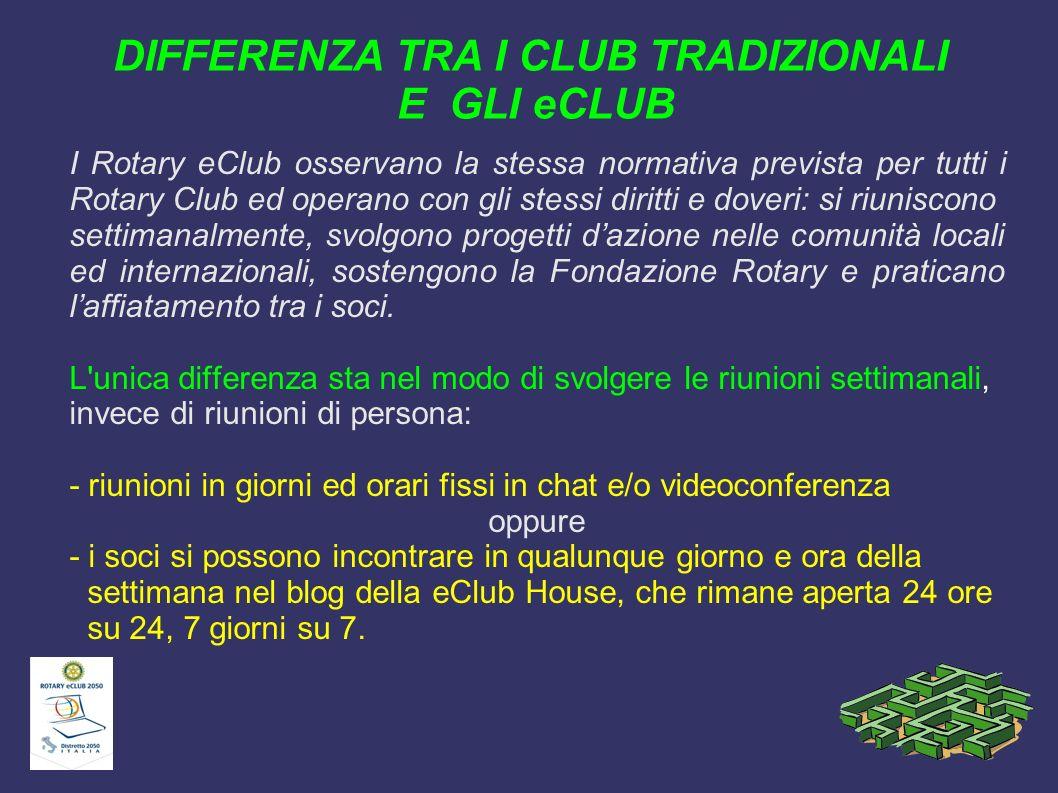 DIFFERENZA TRA I CLUB TRADIZIONALI E GLI eCLUB